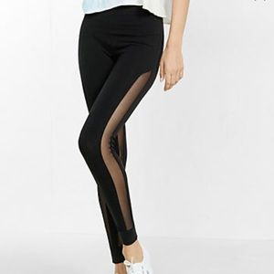 Express black mesh leggings